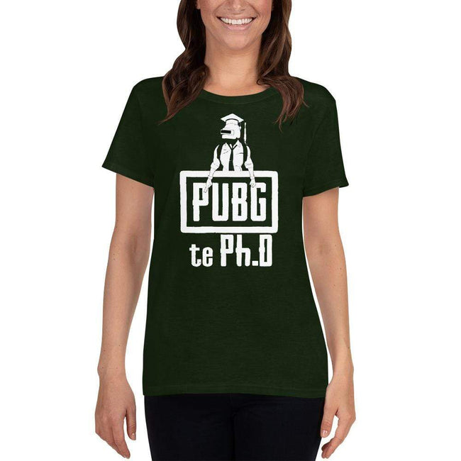 Forest Green / S Bengali Heavy Cotton Short Sleeve T-Shirt -PUBG Te PHD
