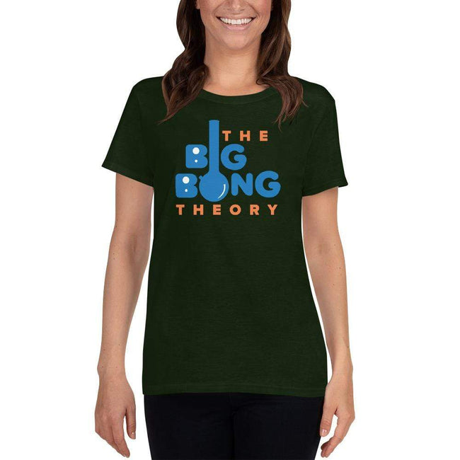 Forest Green / S Bengali Heavy Cotton Short Sleeve T-Shirt -The Big Bong Theory