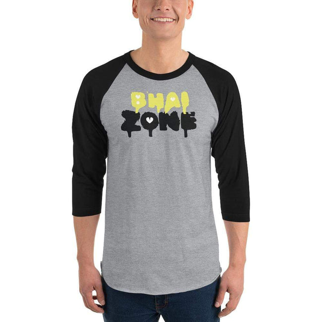 Heather Grey/Black / L Bengali Unisex Fine Jersey Raglan Tee - Bhai Zone