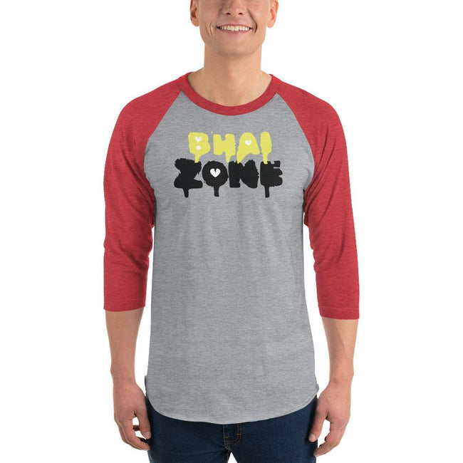 Heather Grey/Heather Red / XS Bengali Unisex Fine Jersey Raglan Tee - Bhai Zone