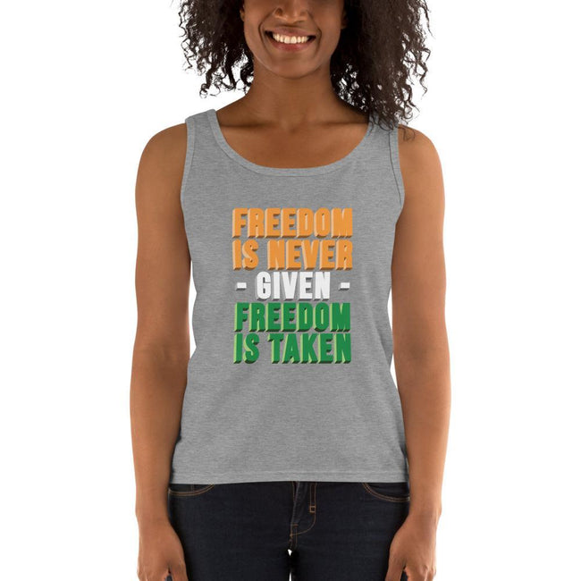 Heather Grey / S Freedomi Ultra Cotton Tank Top - Freedom