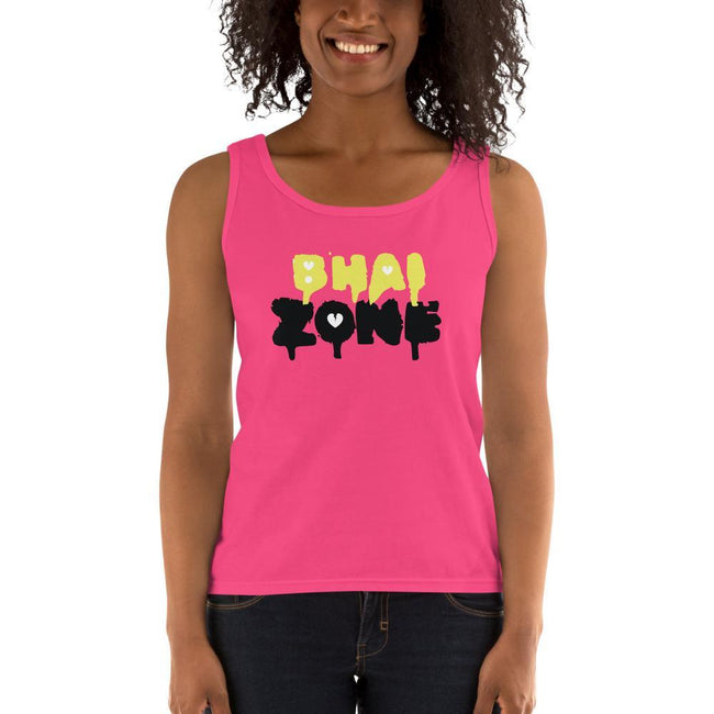 Hot Pink / S Bengali Ultra Cotton Tank Top - Bhai Zone