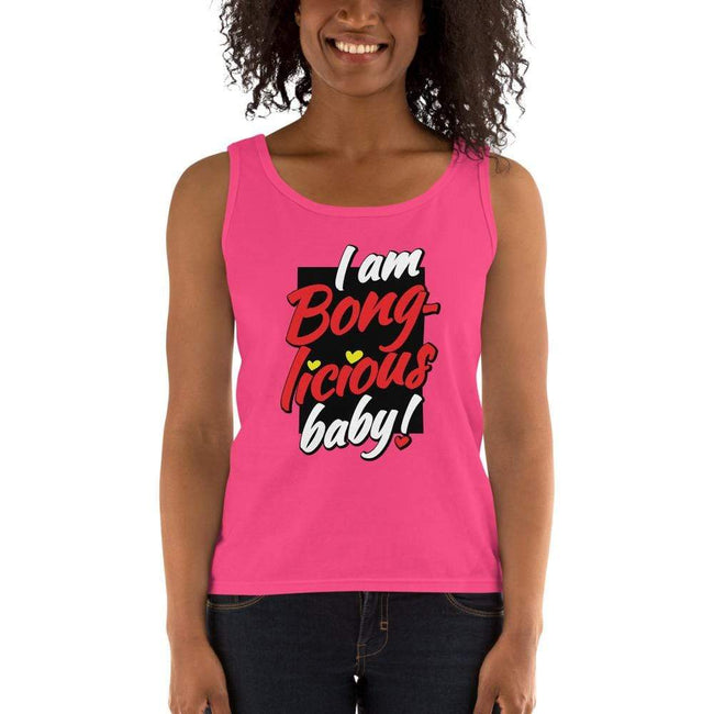 Hot Pink / S Bengali Ultra Cotton Tank Top - Bong-licious