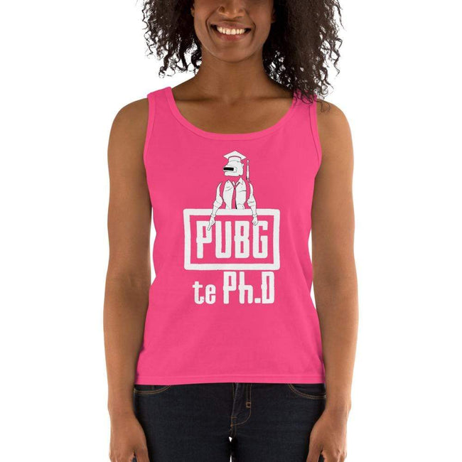 Hot Pink / S Bengali Ultra Cotton Tank Top - PUBG Te PHD