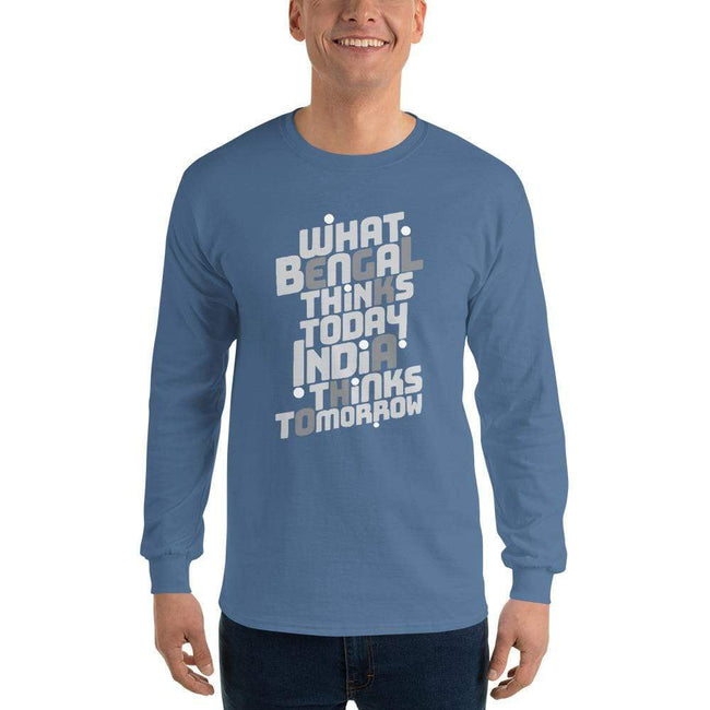 Indigo Blue / S Bengali Ultra Cotton Long Sleeve T-Shirt -Bengal