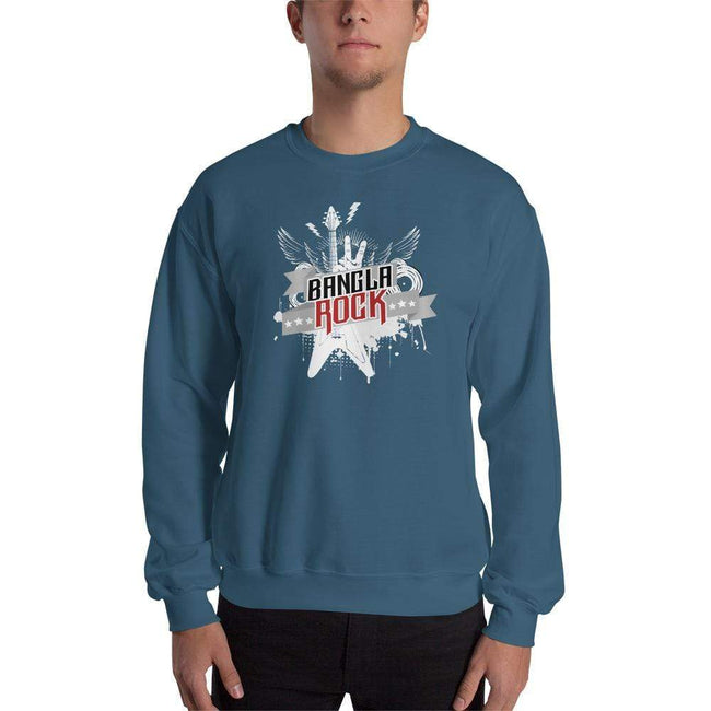Indigo Blue / S Bengali Unisex Heavy Blend Crewneck Sweatshirt -Bangla Rock