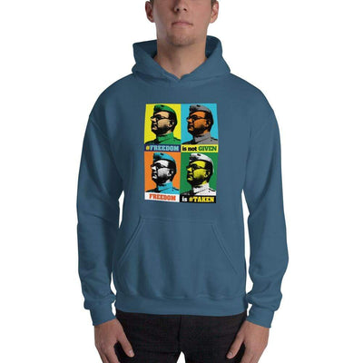 Indigo Blue / S Bengali Unisex Heavy Blend Hooded Sweatshirt - Netaji