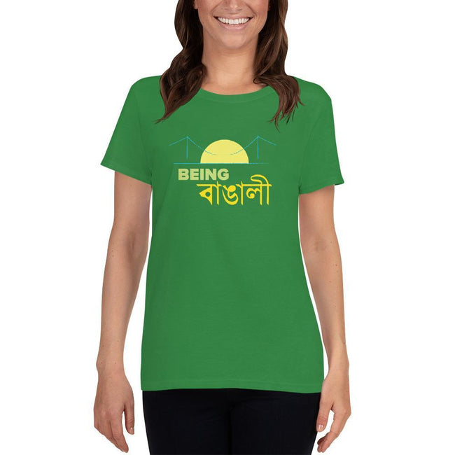 Irish Green / S Bengali Heavy Cotton Short Sleeve T-Shirt -Being Bangali
