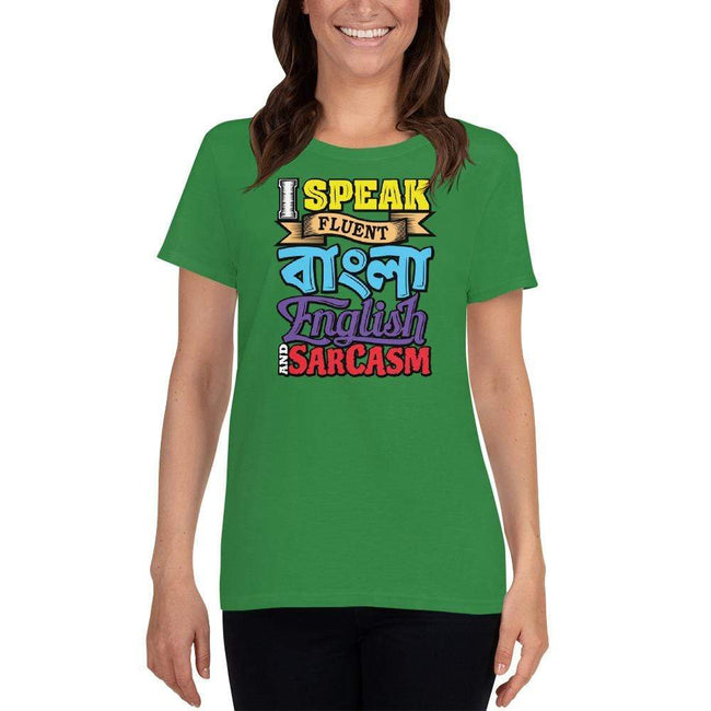 Irish Green / S Bengali Heavy Cotton Short Sleeve T-Shirt -Funky Sarcasm