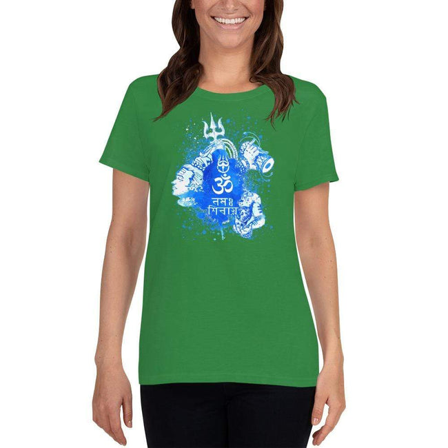 Irish Green / S Bengali Heavy Cotton Short Sleeve T-Shirt -Om Namah Shivay-03