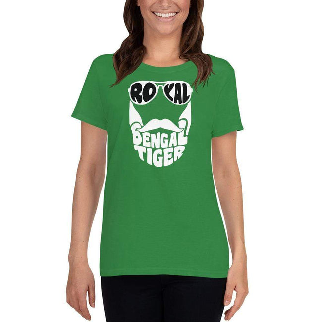 Irish Green / S Bengali Heavy Cotton Short Sleeve T-Shirt -Royal Bengal Tiger