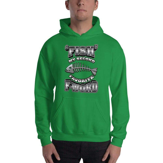 Irish Green / S Bengali Unisex Heavy Blend Hooded Sweatshirt - F for Fish