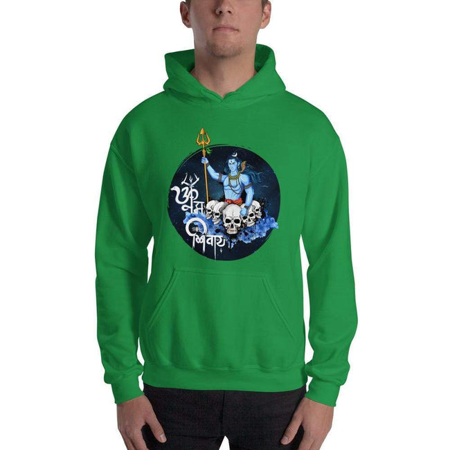Irish Green / S Bengali Unisex Heavy Blend Hooded Sweatshirt - Om Namah Shivay-01