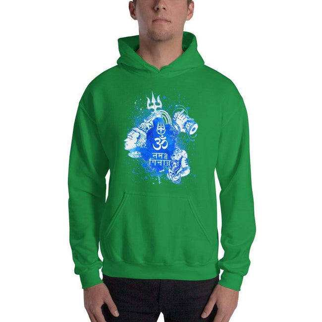 Irish Green / S Bengali Unisex Heavy Blend Hooded Sweatshirt - Om Namah Shivay-03