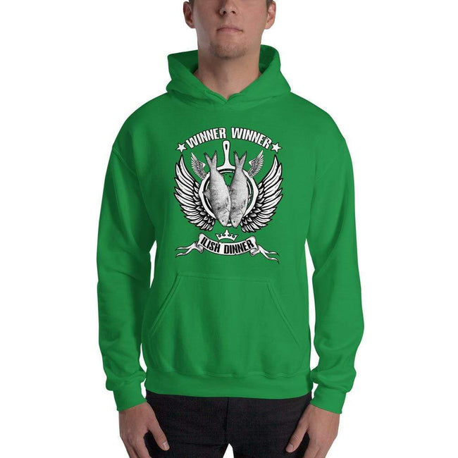Irish Green / S Bengali Unisex Heavy Blend Hooded Sweatshirt - Winner Winner Ilish Dinner