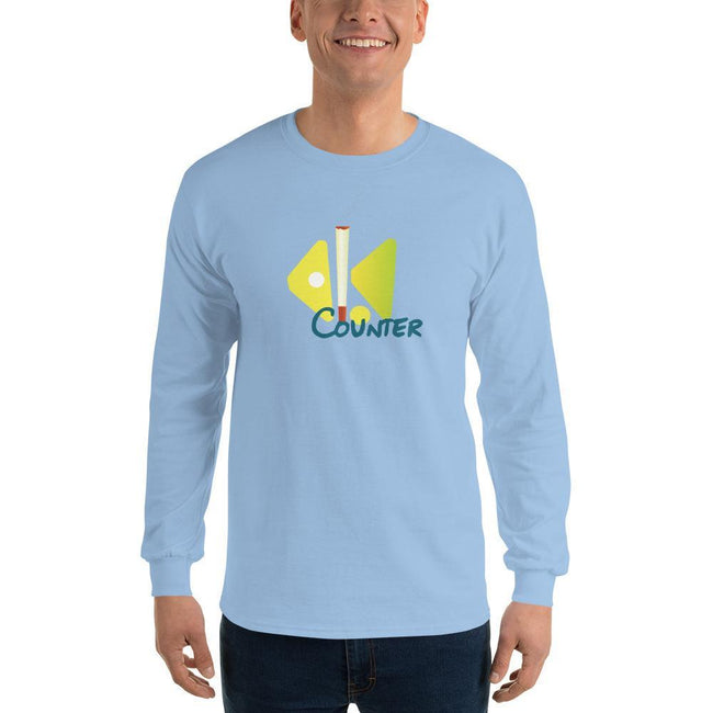 Light Blue / S Bengali Ultra Cotton Long Sleeve T-Shirt - Bar Counter