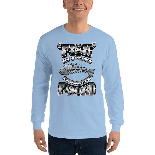 Light Blue / S Bengali Ultra Cotton Long Sleeve T-Shirt - F for Fish