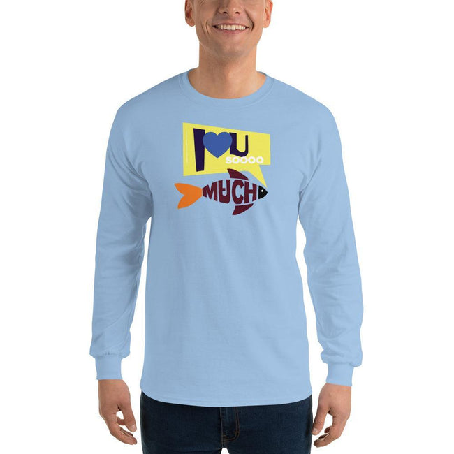 Light Blue / S Bengali Ultra Cotton Long Sleeve T-Shirt - I love you so much
