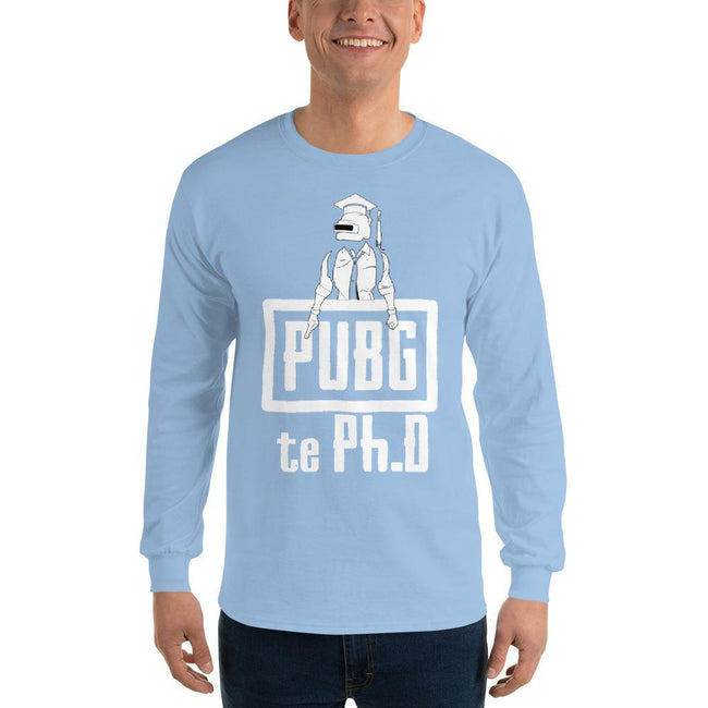 Light Blue / S Bengali Ultra Cotton Long Sleeve T-Shirt - PUBG Te PHD