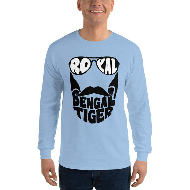 Light Blue / S Bengali Ultra Cotton Long Sleeve T-Shirt - Royal Bengal Tiger