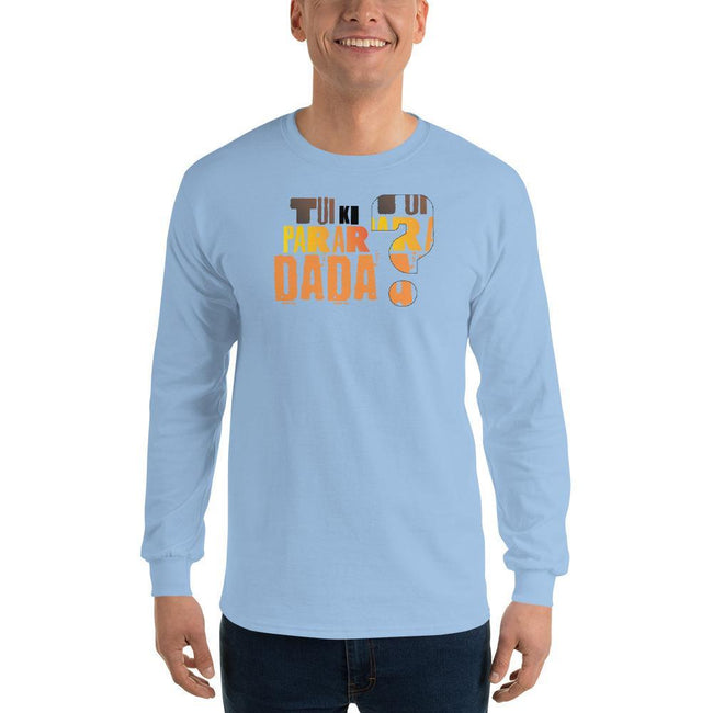 Light Blue / S Bengali Ultra Cotton Long Sleeve T-Shirt - Tui Ki Parar Dada?