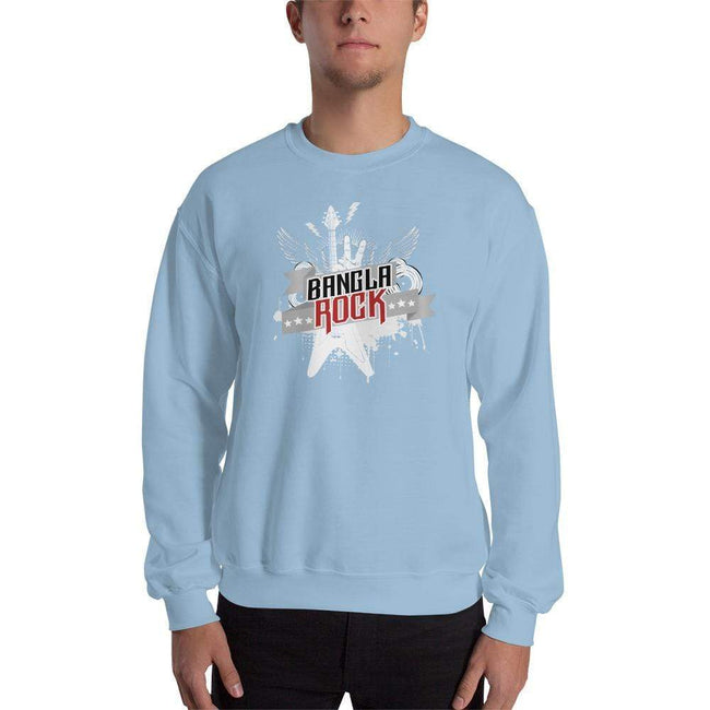 Light Blue / S Bengali Unisex Heavy Blend Crewneck Sweatshirt -Bangla Rock