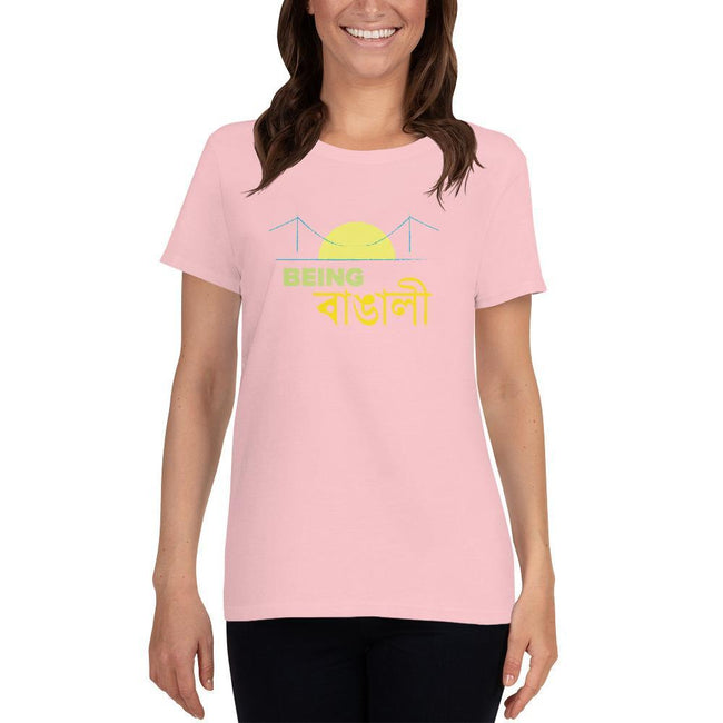 Light Pink / S Bengali Heavy Cotton Short Sleeve T-Shirt -Being Bangali
