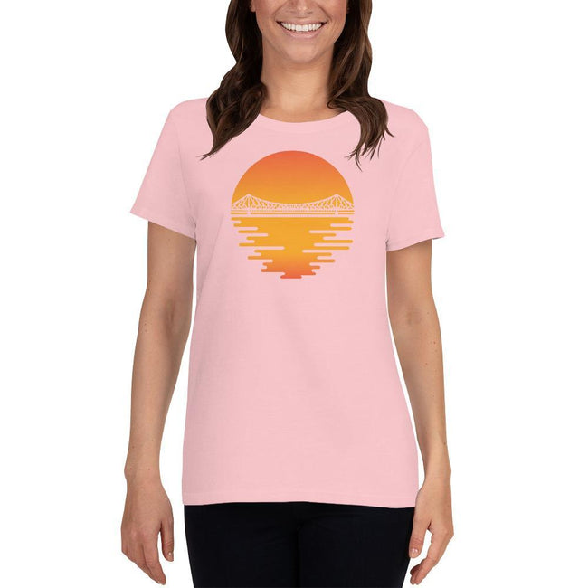 Light Pink / S Bengali Heavy Cotton Short Sleeve T-Shirt -Howrah by the Dawn
