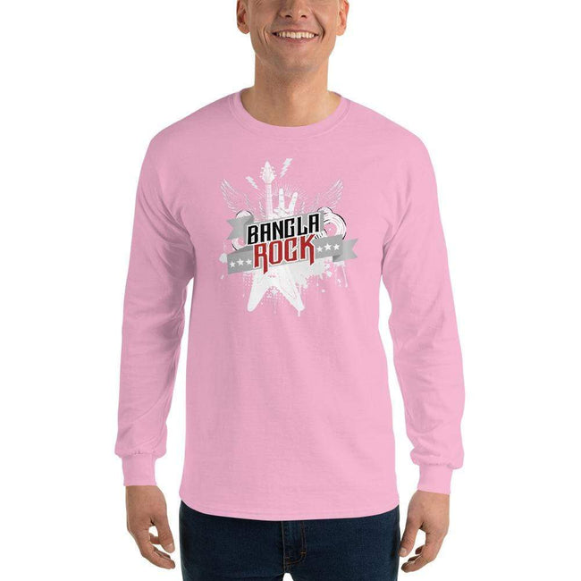 Light Pink / S Bengali Ultra Cotton Long Sleeve T-Shirt -Bangla Rock