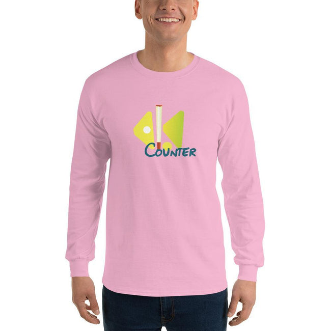 Light Pink / S Bengali Ultra Cotton Long Sleeve T-Shirt - Bar Counter
