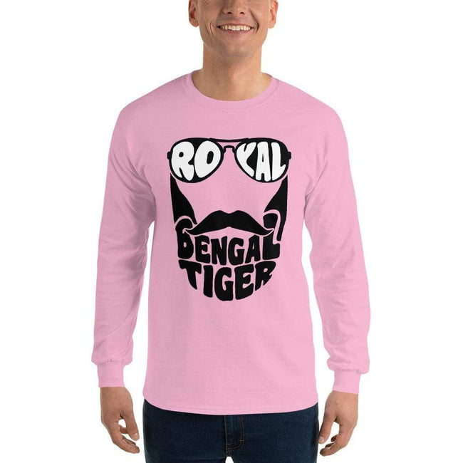Light Pink / S Bengali Ultra Cotton Long Sleeve T-Shirt - Royal Bengal Tiger