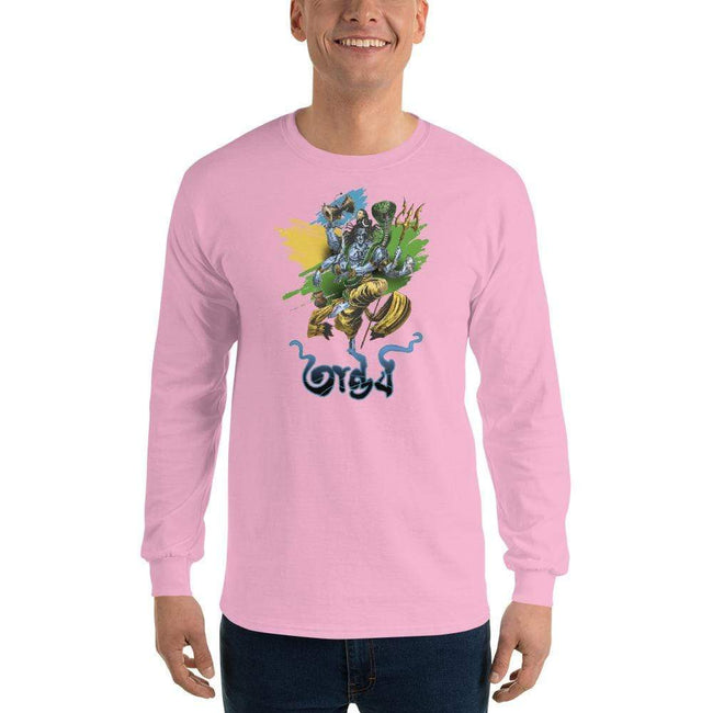 Light Pink / S Bengali Ultra Cotton Long Sleeve T-Shirt - Tandav