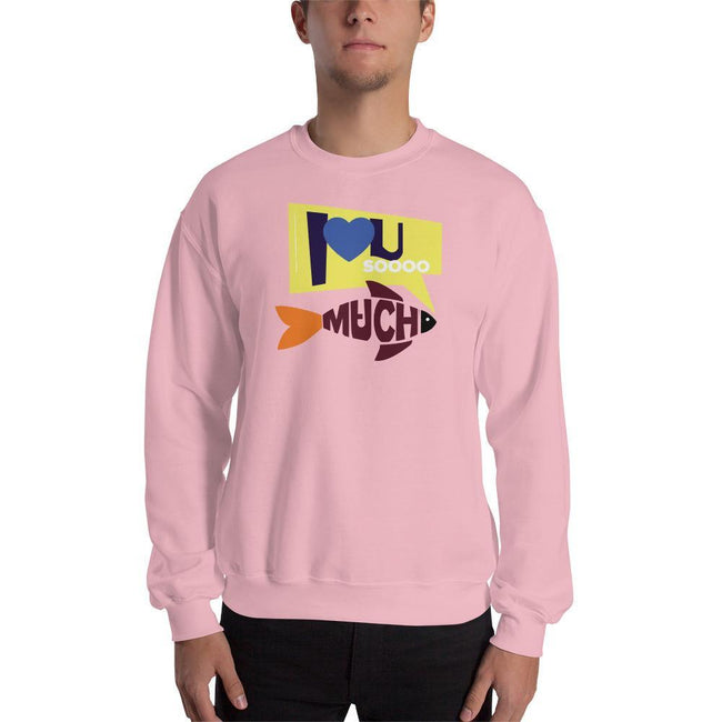 Light Pink / S Bengali Unisex Heavy Blend Crewneck Sweatshirt - I love you so much
