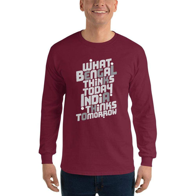 Maroon / S Bengali Ultra Cotton Long Sleeve T-Shirt -Bengal