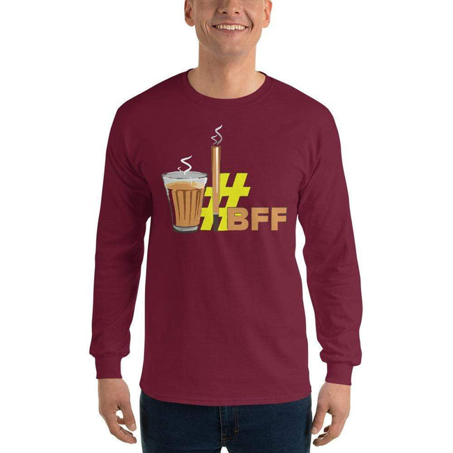 Maroon / S Bengali Ultra Cotton Long Sleeve T-Shirt - BFF