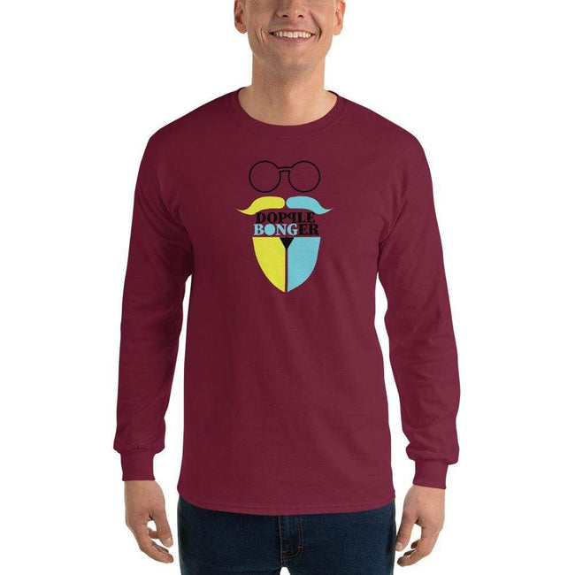 Maroon / S Bengali Ultra Cotton Long Sleeve T-Shirt - Dopple Bonger