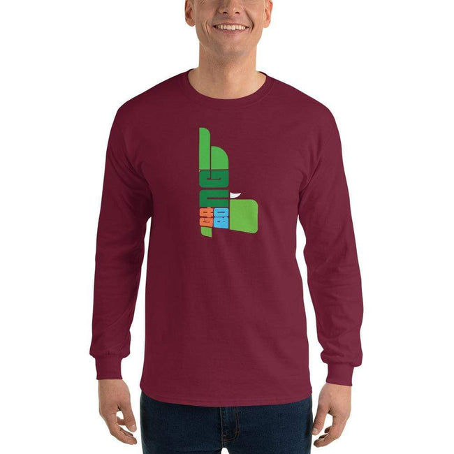 Maroon / S Bengali Ultra Cotton Long Sleeve T-Shirt - GangBong