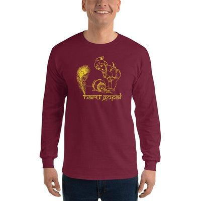 Maroon / S Bengali Ultra Cotton Long Sleeve T-Shirt - Naru Gopal