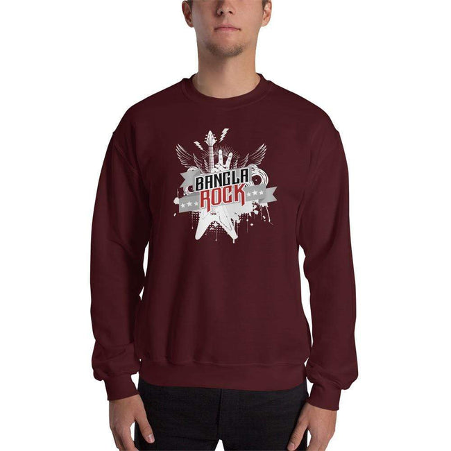 Maroon / S Bengali Unisex Heavy Blend Crewneck Sweatshirt -Bangla Rock