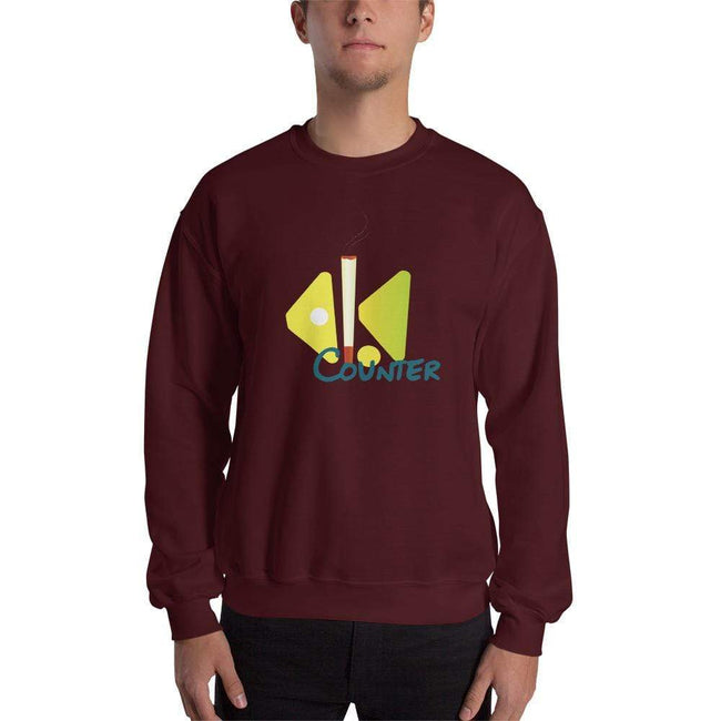 Maroon / S Bengali Unisex Heavy Blend Crewneck Sweatshirt - Bar Counter