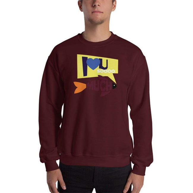 Maroon / S Bengali Unisex Heavy Blend Crewneck Sweatshirt - I love you so much