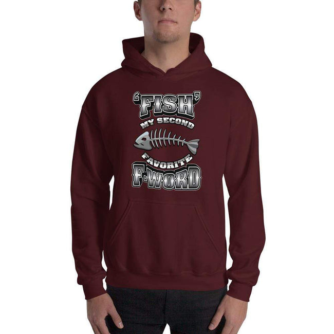 Maroon / S Bengali Unisex Heavy Blend Hooded Sweatshirt - F for Fish
