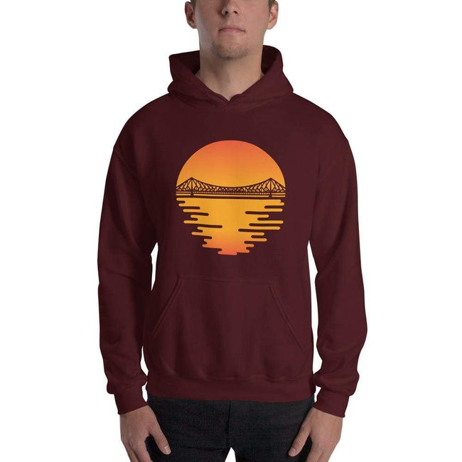 Maroon / S Bengali Unisex Heavy Blend Hooded Sweatshirt - Howrah by the Dawn