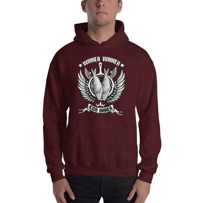 Maroon / S Bengali Unisex Heavy Blend Hooded Sweatshirt - Winner Winner Ilish Dinner