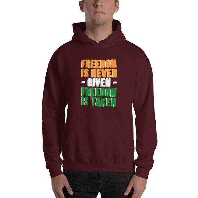 Maroon / S Freedomi Unisex Heavy Blend Hooded Sweatshirt - Freedom