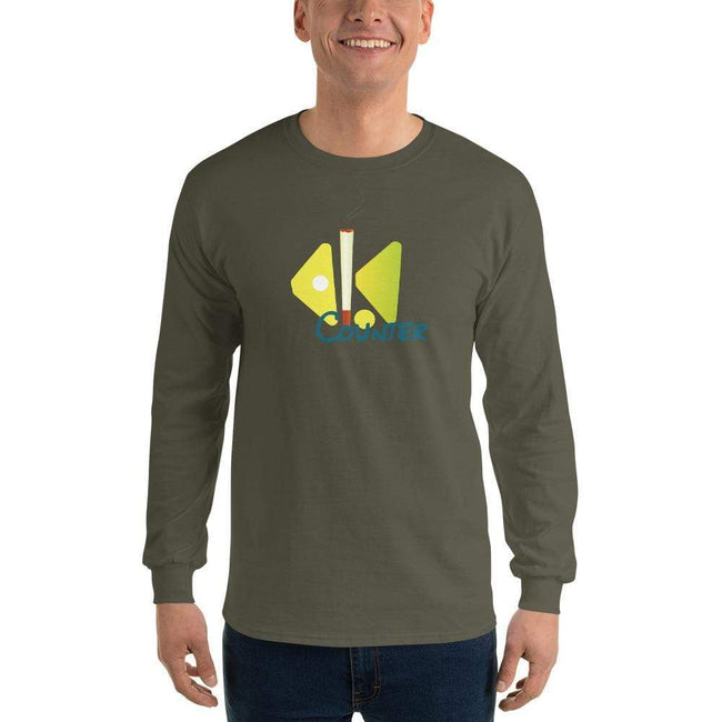 Military Green / S Bengali Ultra Cotton Long Sleeve T-Shirt - Bar Counter