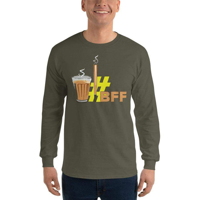 Military Green / S Bengali Ultra Cotton Long Sleeve T-Shirt - BFF