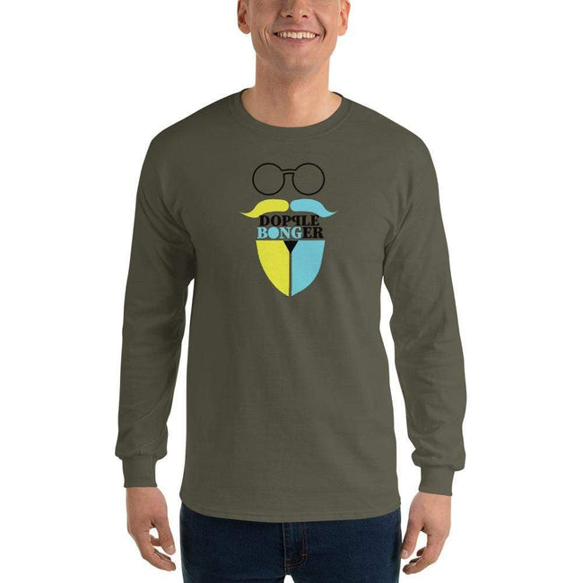 Military Green / S Bengali Ultra Cotton Long Sleeve T-Shirt - Dopple Bonger