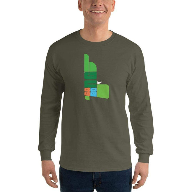 Military Green / S Bengali Ultra Cotton Long Sleeve T-Shirt - GangBong