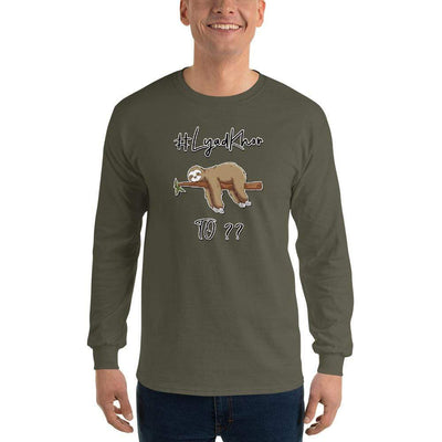 Military Green / S Bengali Ultra Cotton Long Sleeve T-Shirt -  #Lyadkhor To?